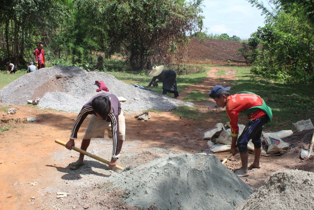 Bridge construction has started again now that safe practices can be used