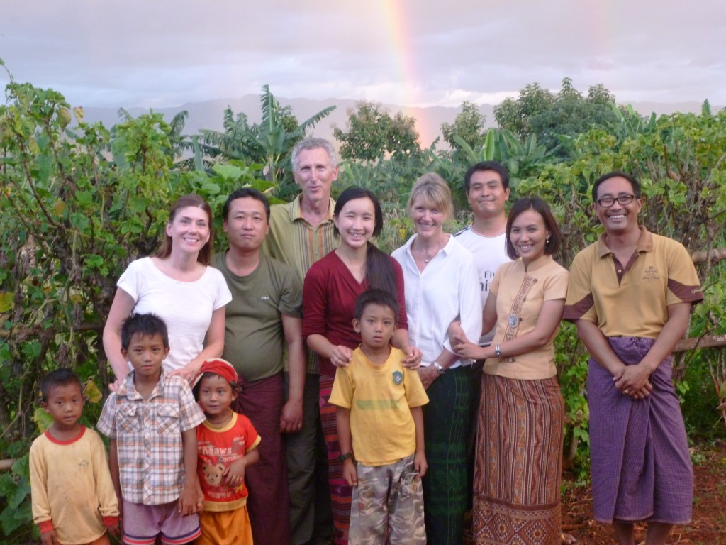 Shanta Foundation staff from left to right:  Amy Hartenstine, Ko Shwe, Mike Karpfen, Nang Than Aye, Tricia Karpfen, Zaw Moe Naung, Dr. Nge Nge